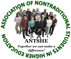 Association for Non-Traditional Students in Higher-Education (ANTSHE) Logo